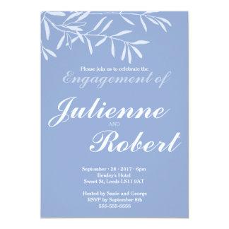 Baby-Blau-moderne Verlobungs-Party Einladung
