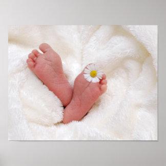 Baby-Blumen-Füße Poster