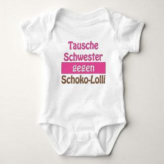 """Baby Body """"Tausche Schwester gegen Schoko-Lolli"""" Babybody"""