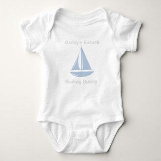 Baby-Bodysuit mit zukünftigem das Segeln-Freund Babybody