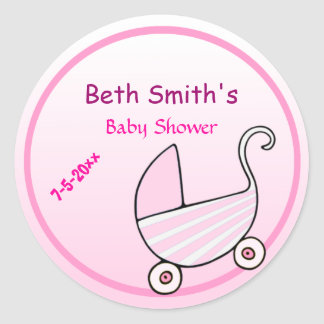 Baby-Buggy-Baby-Dusche Runder Aufkleber