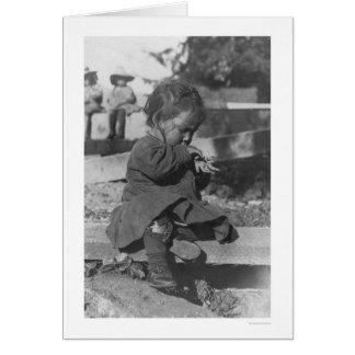 Baby, das in Nome 1906 spielt Karte