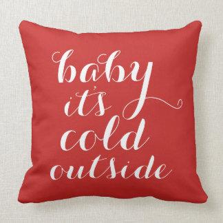 Baby des Kissen-| ist es kalte Außenseite - Rot Kissen