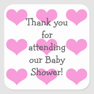 Baby-Duschen-Aufkleber Quadrat-Aufkleber