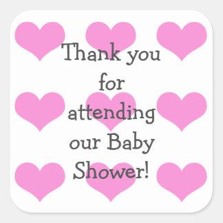 Baby-Duschen-Aufkleber Quadratischer Aufkleber