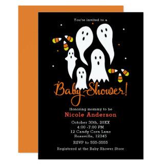 Baby-Duschen-Halloween-Party-Geister u. Karte