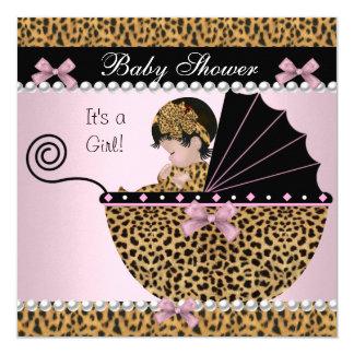 Baby-Duschen-niedlicher Quadratische 13,3 Cm Einladungskarte