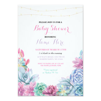 Baby-Duschen-Verlobungs-Party-Blumenrosa laden ein Karte