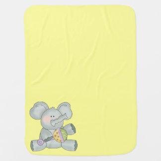 Baby-Elefant-Gelb Unisex Puckdecke
