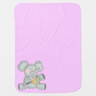 Baby-Elefant-Rosa-Mädchen Baby-Decke