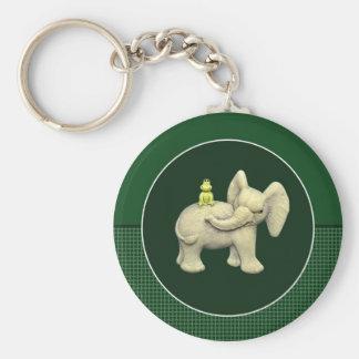 Baby-Elefant u. Frosch Schlüsselanhänger
