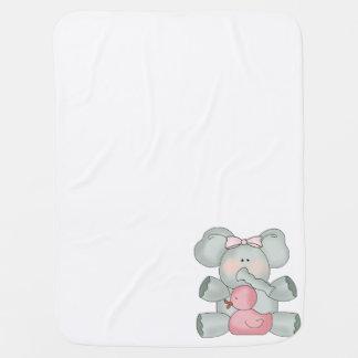 Baby-Elefant-Weiß-Mädchen Puckdecke