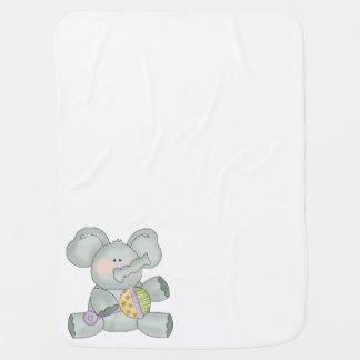 Baby-Elefant-weißes Unisex Babydecke