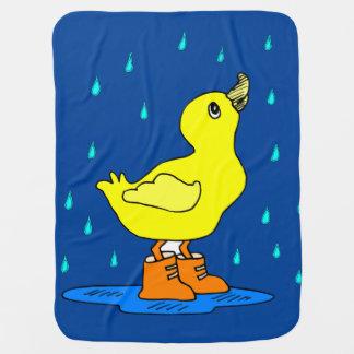 Baby-Ente blankie, das blaue Decke empfängt