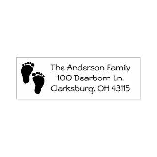 Baby-Fuß-Adresse Permastempel