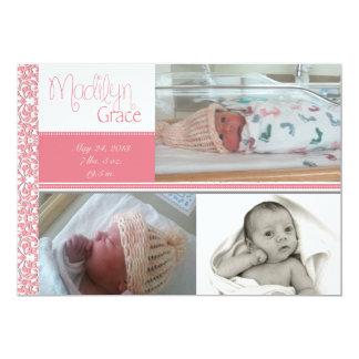 Baby-Geburts-Mitteilung Karte