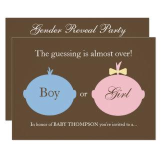 Baby-Geschlecht decken Party Einladung auf