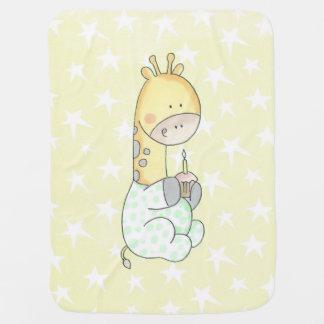 Baby-Giraffe mit Kuchen-Baby-Decke Babydecke