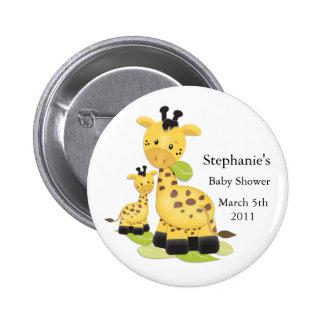 Baby-Giraffen-Baby-Knopf Runder Button 5,1 Cm