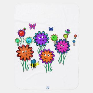 Baby-glückliche Blumen Babydecken
