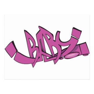 Baby-Graffiti Postkarte