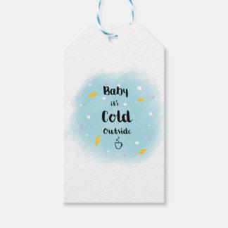 Baby ist es kalte Außenseite Geschenkanhänger