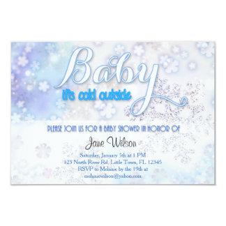 Baby ist es kalte äußere Babyparty 8,9 X 12,7 Cm Einladungskarte