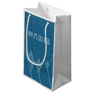 Baby ist es kalte äußere Geschenk-Tasche Kleine Geschenktüte