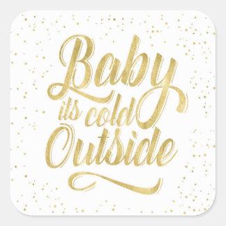 Baby ist es kalter äußerer Aufkleber