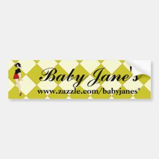 Baby-Jane-Button herauf Mädchen Autoaufkleber