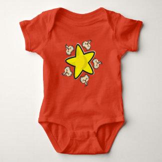 Baby-Jersey-Bodysuit, rot mit Wissenschaftler und Baby Strampler