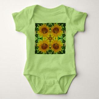 "Baby-Jersey-Körper-Anzugs""Sonnenblumen Baby Strampler"