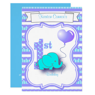 Baby-Jungen-1. Geburtstags-Party 12,7 X 17,8 Cm Einladungskarte