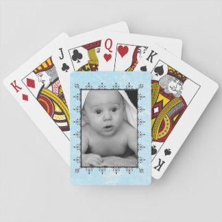 Baby-Jungen-Foto kundengebundene Spielkarten