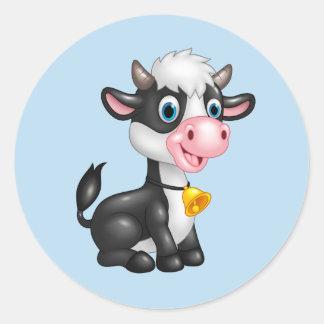 Baby-Kuh-Aufkleber Runder Aufkleber