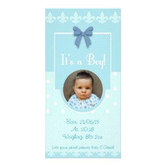 Baby-kundenspezifische Geburts-Mitteilungs-Karte Personalisierte Foto Karte