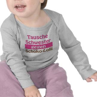 Baby Langarmshirt Tausche Schwester gegen Scho T Shirt