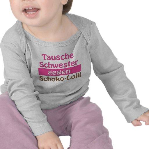 "Baby Langarmshirt ""Tausche Schwester gegen Scho... T Shirt"
