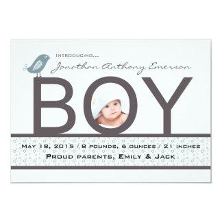 Baby-Liebe - Foto-Geburts-Mitteilung 12,7 X 17,8 Cm Einladungskarte