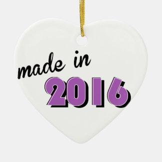 Baby machte im Jahre 2016 lila Keramik Ornament