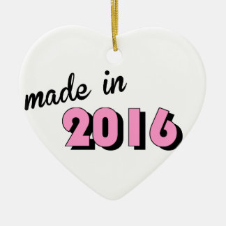 Baby machte im Jahre 2016 Rosa Keramik Ornament