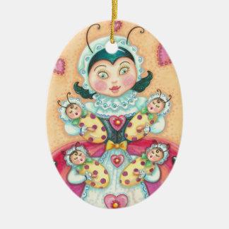 Baby-Marienkäfer MAMMA-WEIHNACHTSverzierung Keramik Ornament