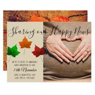 Baby-passende Herbst-Fall FOTO Mitteilungs-Karte Karte
