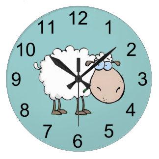 Baby-Schaf-Tier-Wanduhr Uhren