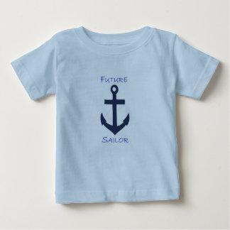 Baby-T-Stück Marine-Seemann Baby T-shirt