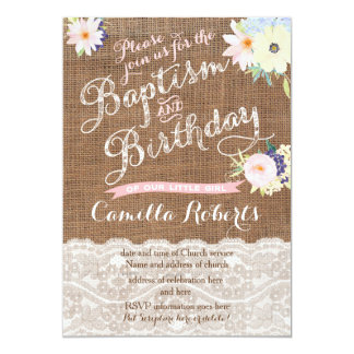 Baby Taufe- und Geburtstagseinladungen 12,7 X 17,8 Cm Einladungskarte