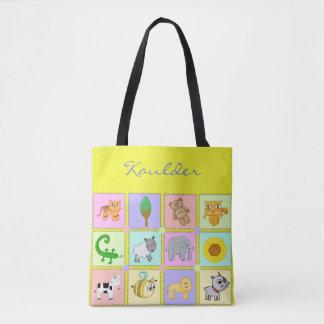 Baby-Tiere für die Baby-Gelbe Baby-Tasche/die