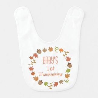 Baby-verlässt erster Erntedank-Herbst Eicheln Babylätzchen