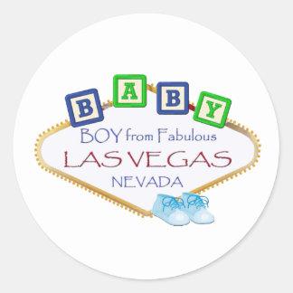 Baby von Las Vegas-Aufklebern Runder Aufkleber
