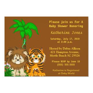 BabyAnimals Dschungel-Duschen-Einladung 12,7 X 17,8 Cm Einladungskarte